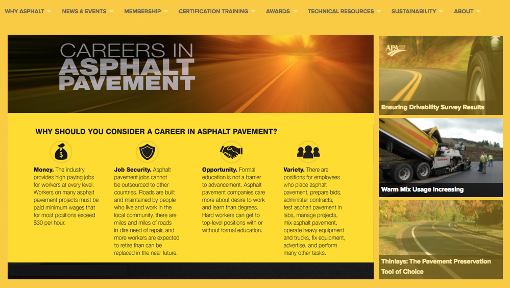 Consider a career in asphalt pavement